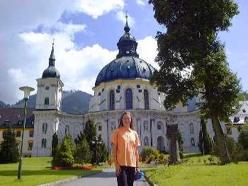 Kloster Ettal an der deutschen Alpenstrasse