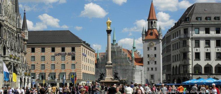 München Innenstadt entdecken bei Städtereisen in Bayern Städtetrips Deutschland